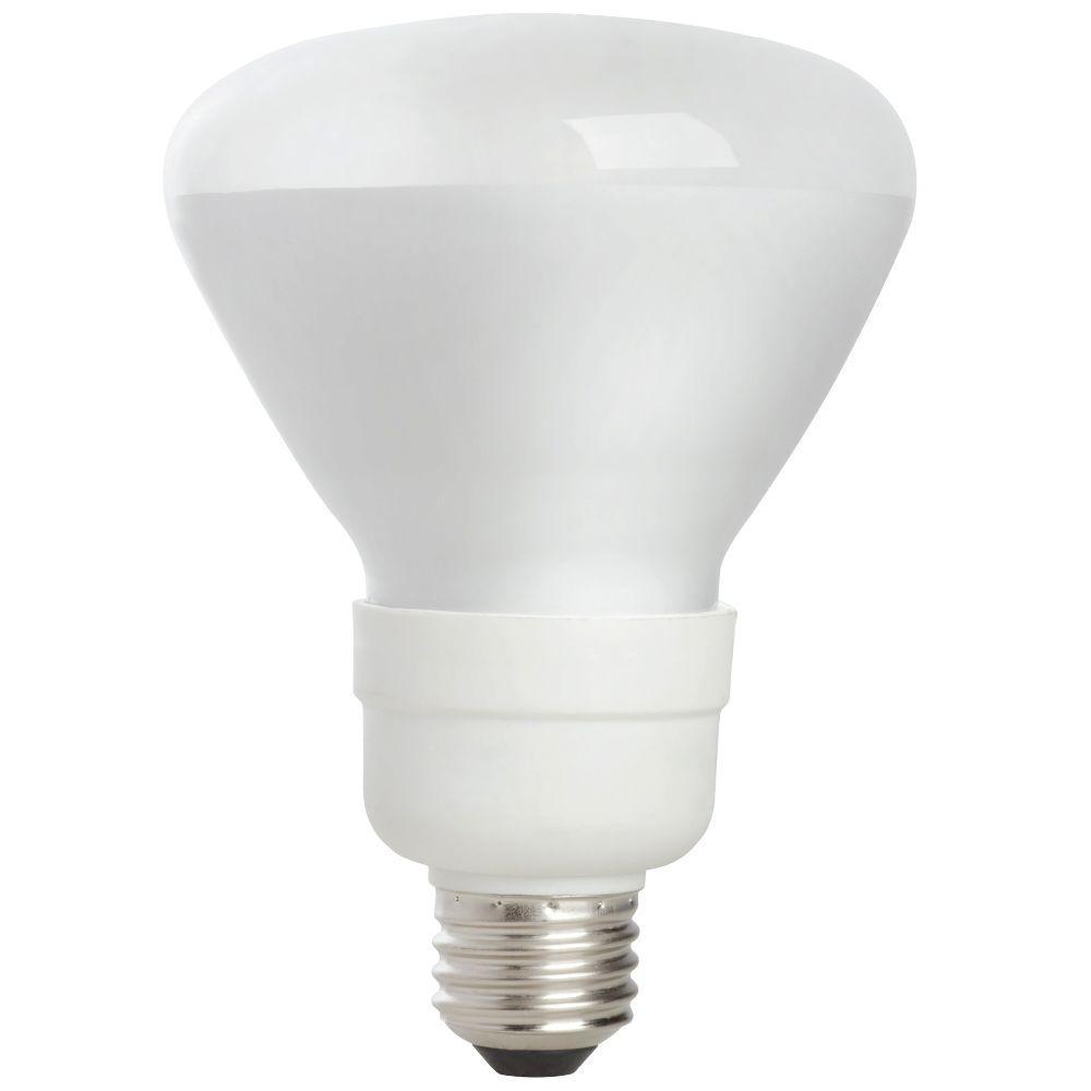 EcoSmart 65W Equivalent Soft White BR30 Medium Base CFL Light Bulb ...