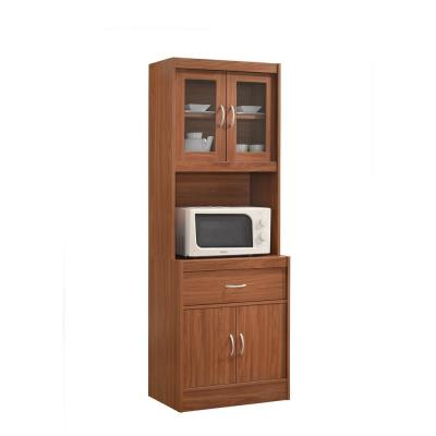 China Cabinet Cherry with Microwave Shelf