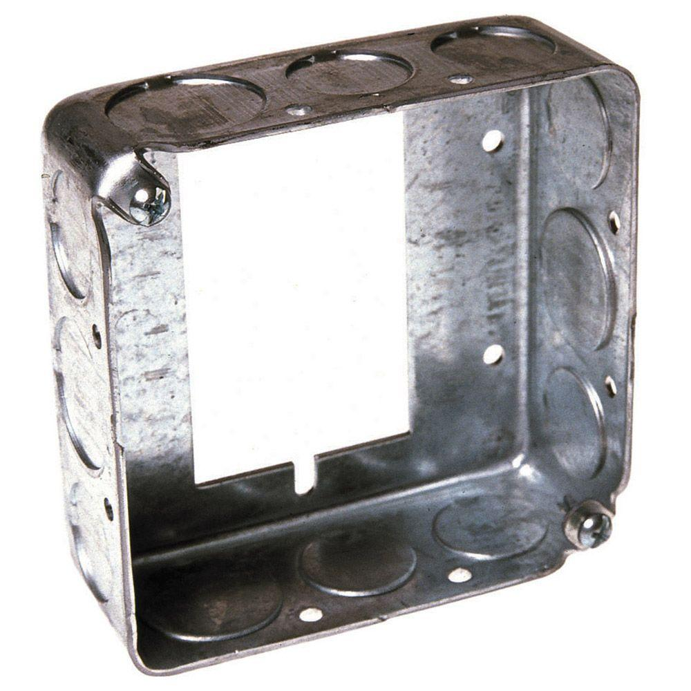 4 in. Square Drawn Extension Ring, 1-1/2 in. Deep with 1/2