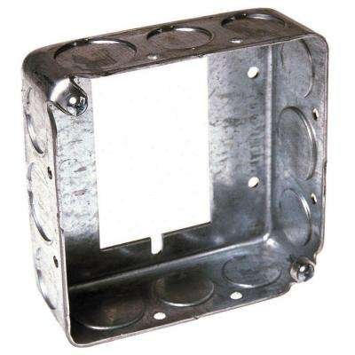 4 in. Square Drawn Extension Ring, 1-1/2 in. Deep with 1/2 and 3/4 in. KO's for Switch Boxes (25-Pack)