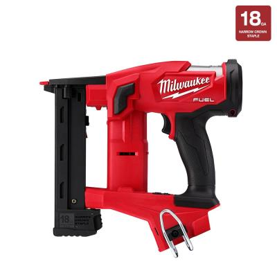 M18 FUEL 18-Volt Lithium-Ion Brushless Cordless 18-Gauge 1/4 in. Narrow Crown Stapler (Tool-Only)