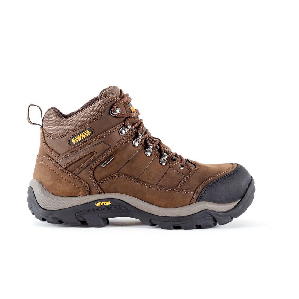 Neon Men 6 in. Size 8(W) Brown Leather Steel Toe Waterproof Work Boot
