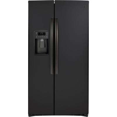 25.1 cu. Ft. Side by Side Refrigerator in Black Slate, Fingerprint Resistant