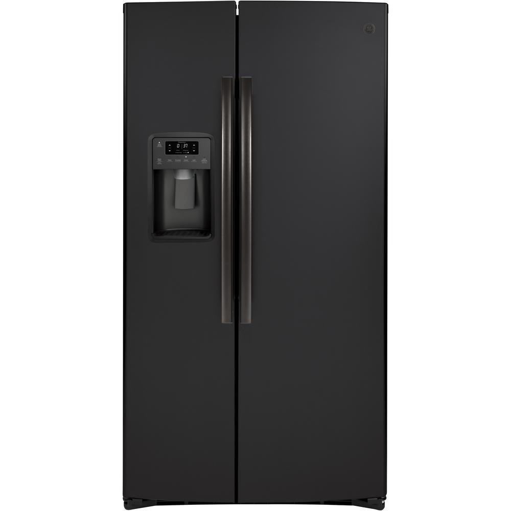 25.1 cu. ft. Side by Side Refrigerator in Black Slate, Fingerprint Resistant