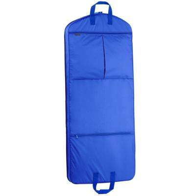 52 in. Royal Blue Dress Length Carry-On Garment Bag with 2-Pockets