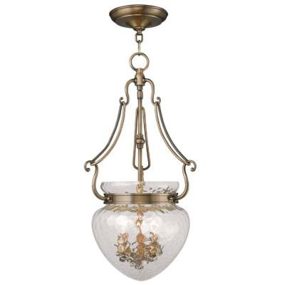 Providence 3-Light Antique Brass Incandescent Ceiling Pendant