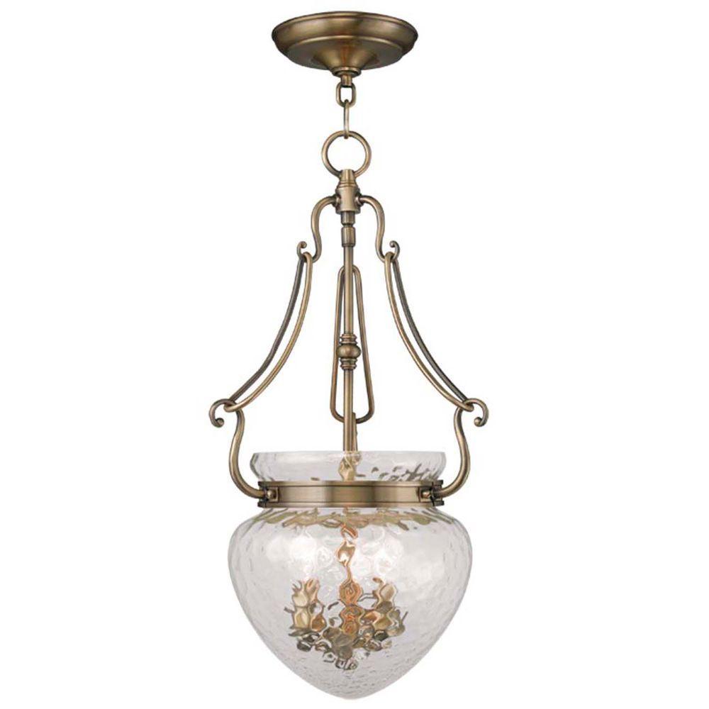 Providence 3-Light Antique Brass Incandescent Ceiling Pendant
