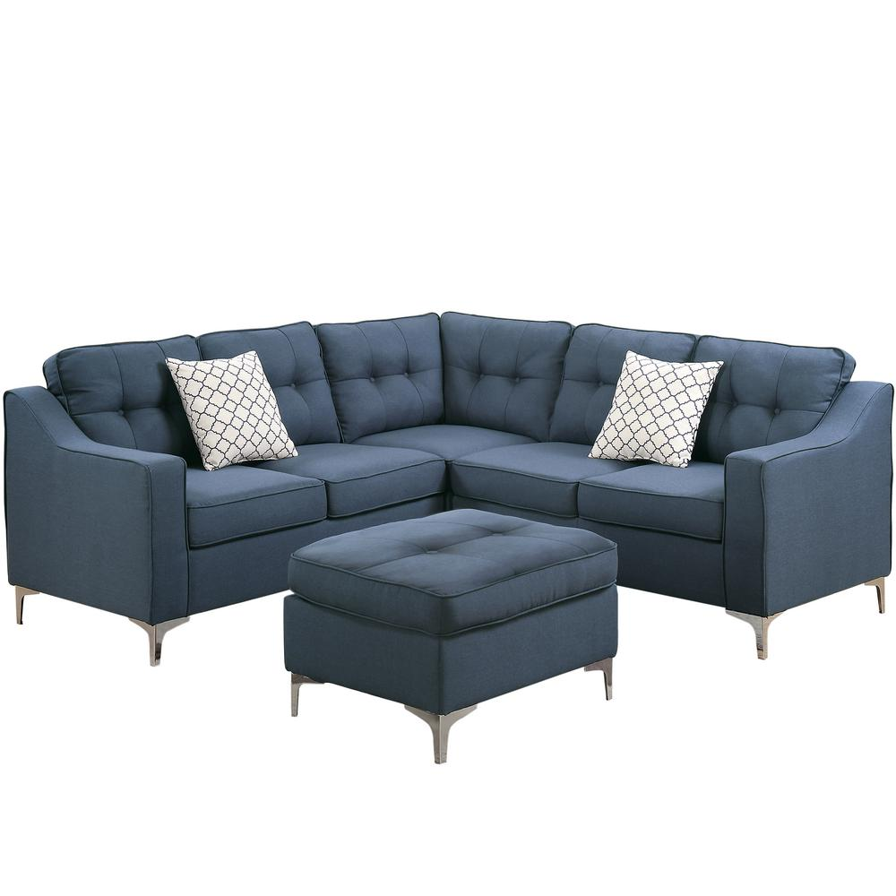 Navy Sectional Sofa Sabrina Sectional Sofa 667 In Navy