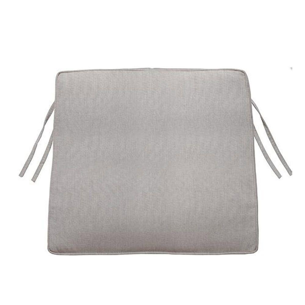 Home Decorators Collection Granite Sunbrella 18.5 in. x 17.5 in. Trapezoid Box-Edge Outdoor Chair Cushion