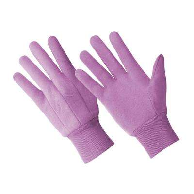 Ladies Cotton Rich Jersey Glove, Purple Color