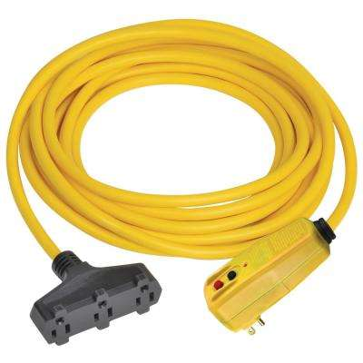 50 ft. Right Angle GFCI Triple Tap Cord