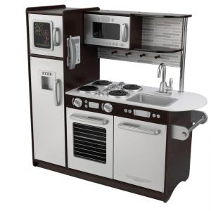KidKraft Uptown Espresso Kitchen Playset-53260 - The Home Depot