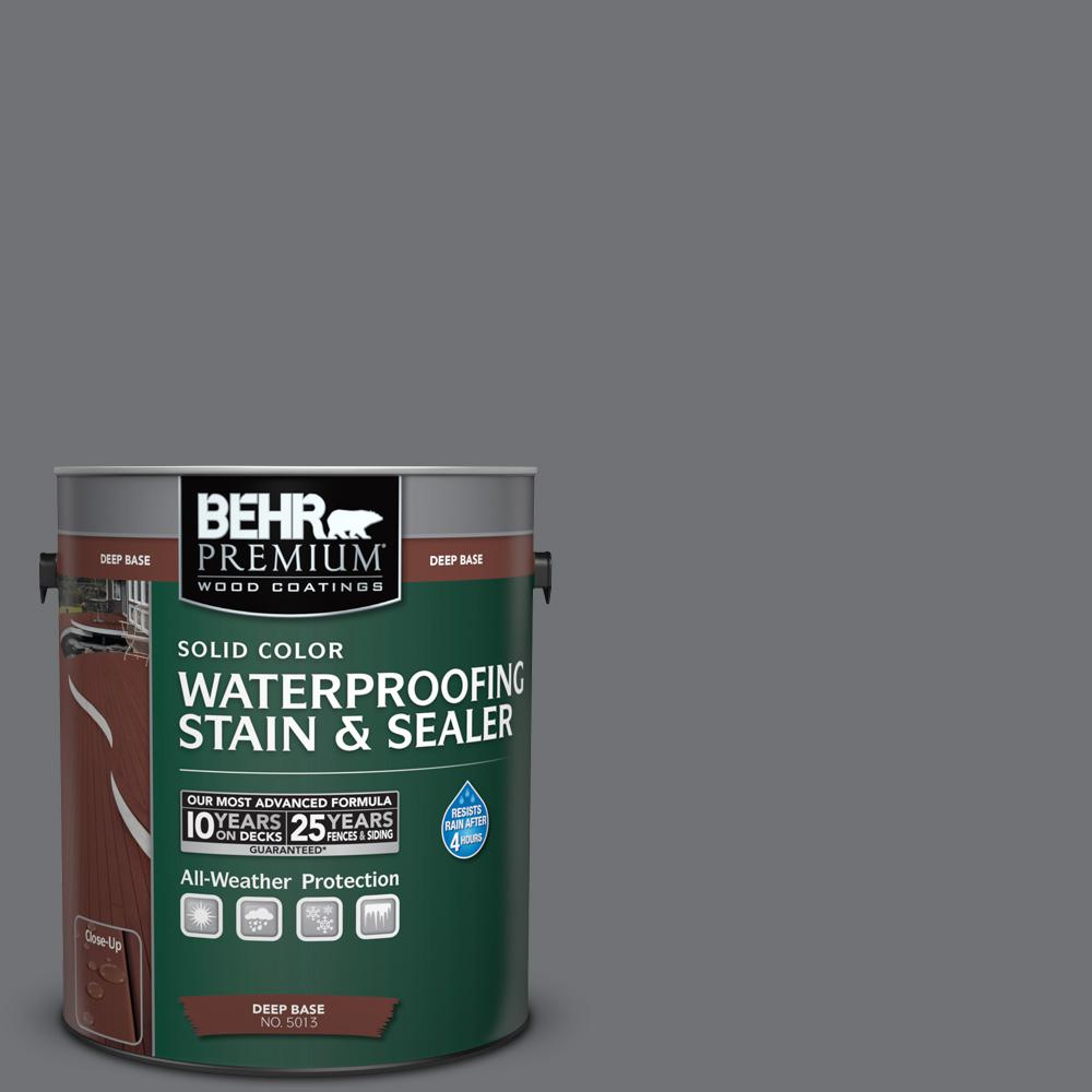 1 gal. #PPU18-3 Antique Tin Solid Waterproofing Stain and Sealer