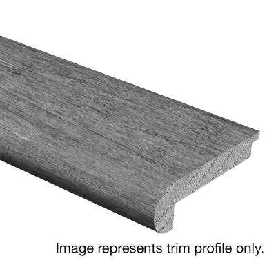 Stand Woven Bamboo Charcoal 3/8 in. Thick x 2-3/4 in. Wide x 94 in. Length Hardwood Stair Nose Molding