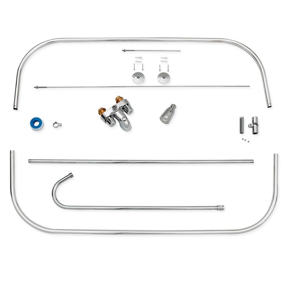 EZ-FLO 2-Handle Claw Foot Freestanding Tub Faucet Unit in Chrome 11123