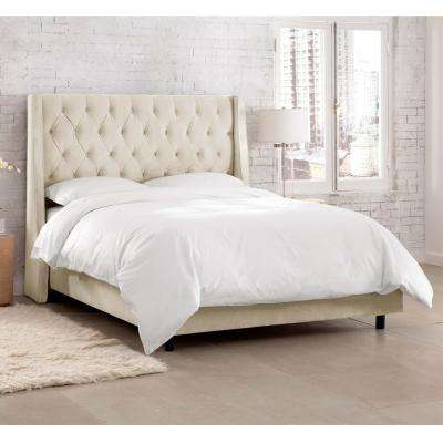 Willow White King Upholstered Bed