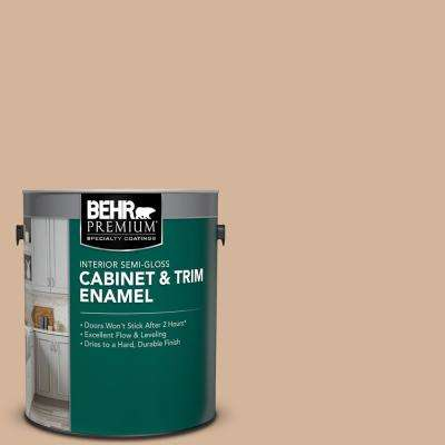 1 gal. #PPU4-07 Mushroom Bisque Semi-Gloss Enamel Interior Cabinet and Trim Paint