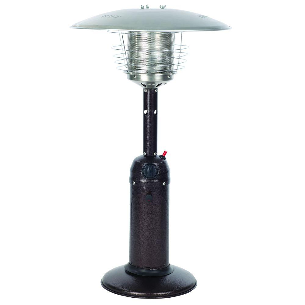 Fire Sense 10 000 Btu Hammered Bronze Tabletop Propane Gas Patio Heater