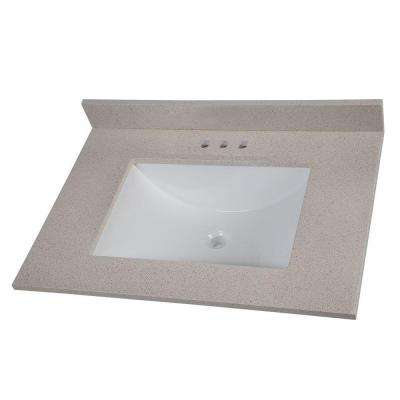31 in. Colorpoint Vanity Top in Maui with White Sink