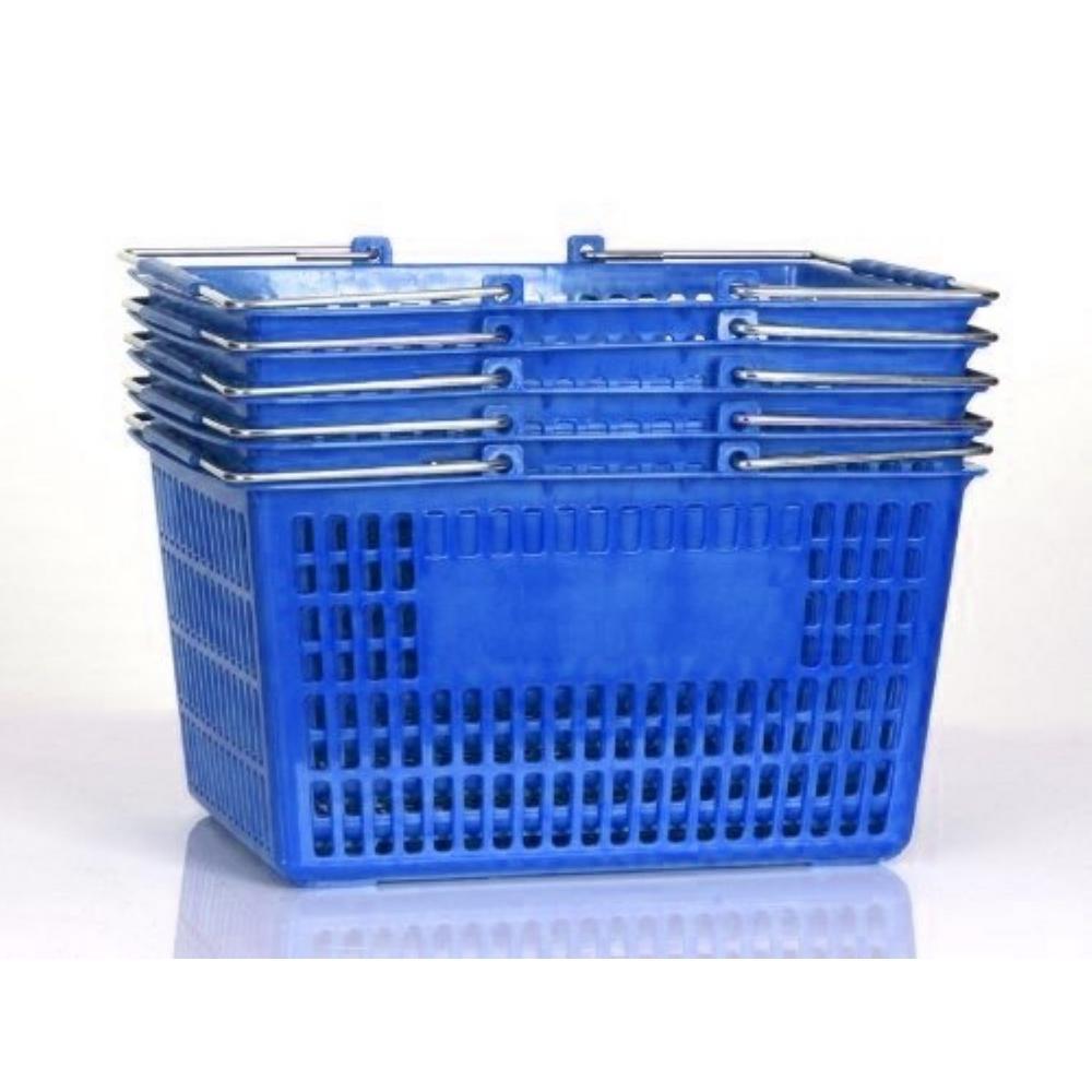 Blue Shopping Baskets (Set of 5)