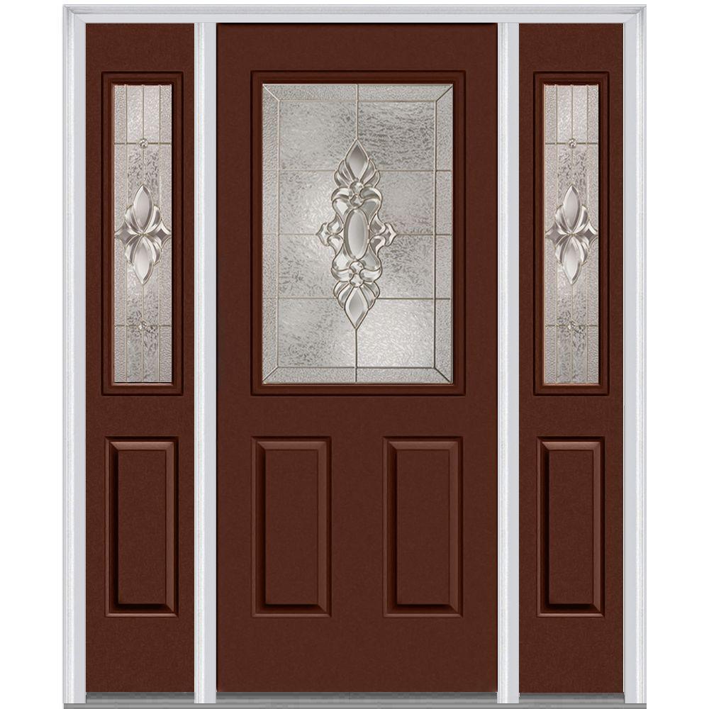 64 in. x 80 in. Heirloom Master Left-Hand Inswing 1/2  sc 1 st  Home Depot & Steel Doors - Front Doors - The Home Depot