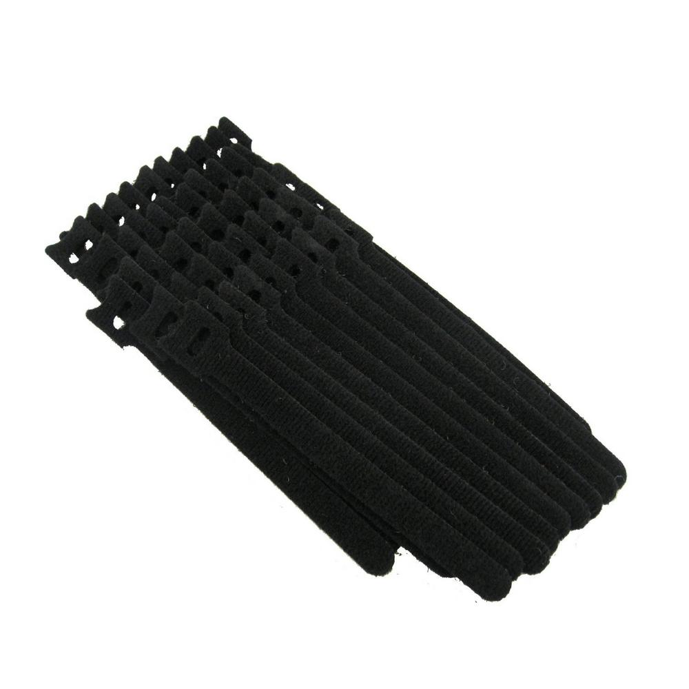 Reusable Self-Gripping Cable Ties, (50-Pieces), Black