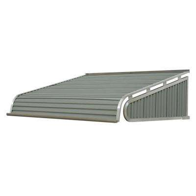 5 ft. 1500 Series Door Canopy Aluminum Awning (12 in. H x 42 in. D) in Graystone