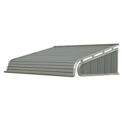 3 ft. 1500 Series Door Canopy Aluminum Awning (12 in. H x 42 in. D) in Graystone