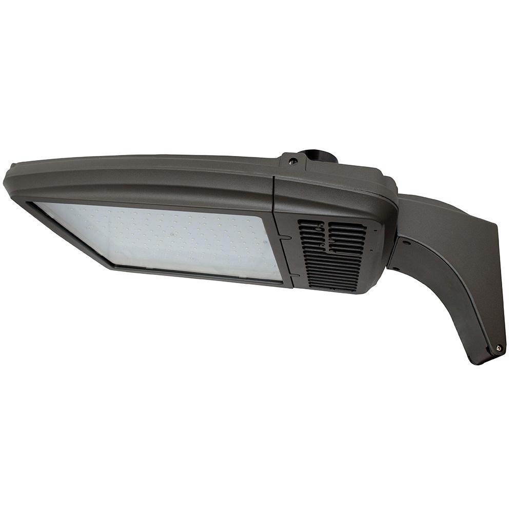 256-Watt Bronze Integrated LED Outdoor Area Light, Type V, 5000K CCT, Arm Mount