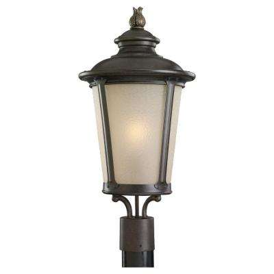 Cape May 1-Light Burled Iron Outdoor Post Top