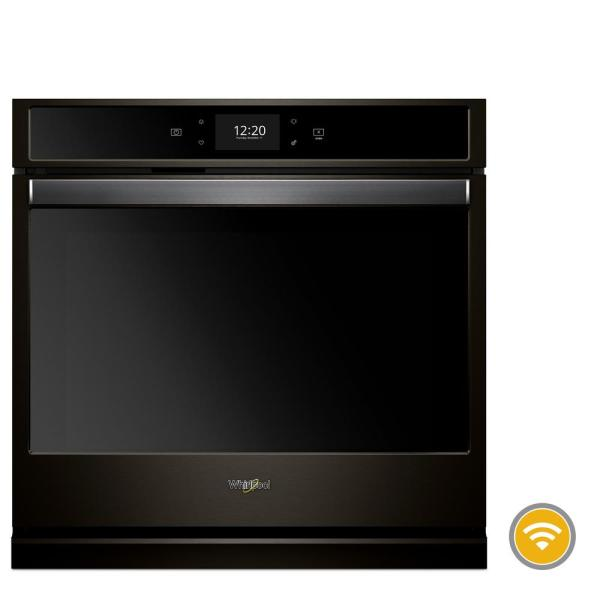 27 in. Smart Single Electric Wall Oven with True Convection Cooking in Fingerprint Resistant Black Stainless Steel