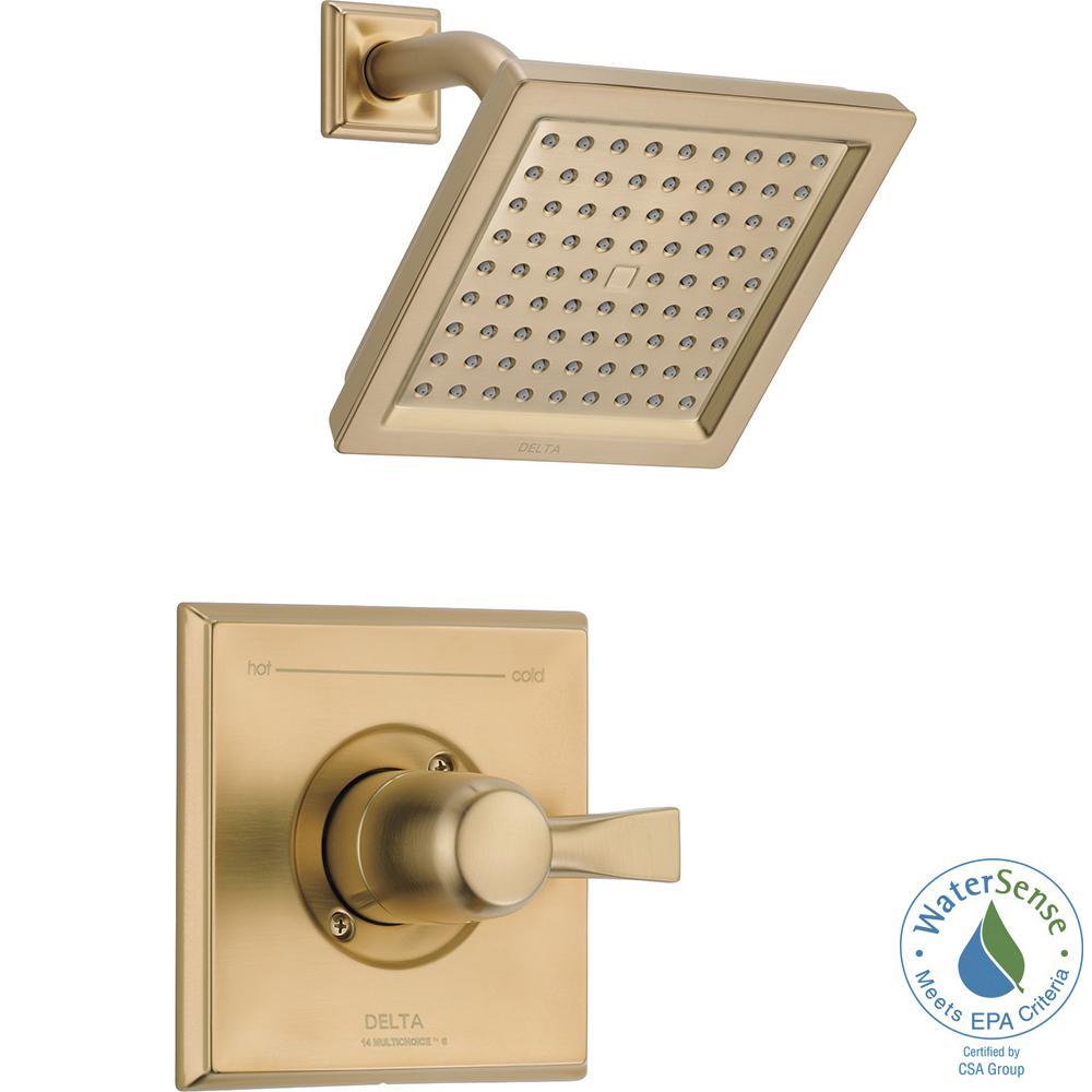 Dryden 1-Handle Shower Faucet Trim Kit in Champagne Bronze (Valve Not