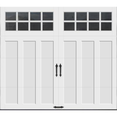 Coachman Collection 8 ft. x 7 ft. 18.4 R-Value Intellicore Insulated White Garage Door with SQ24 Window
