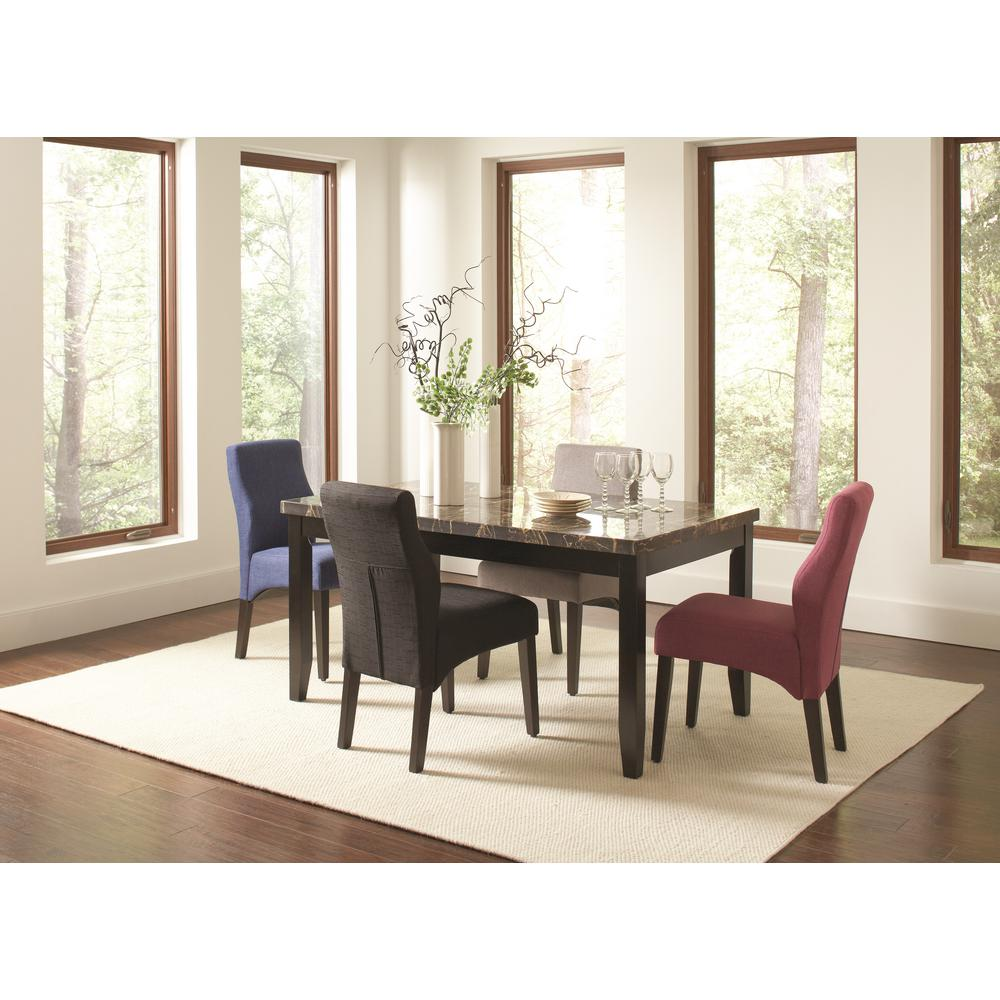 coaster anisa purple dark cappuccino dining chair set of. Black Bedroom Furniture Sets. Home Design Ideas