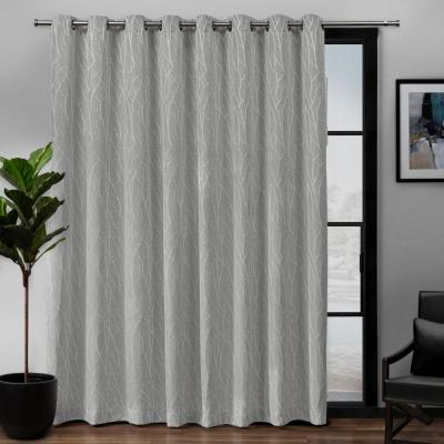100x84 Exclusive Home Curtains EH8193-06 2-84G Exclusive Home Sateen Patio Woven Blackout Grommet Top Single Curtain Panel Mecca Orange