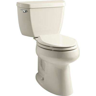 Highline Classic 2-Piece 1.0 GPF Single Flush Elongated Toilet in Almond