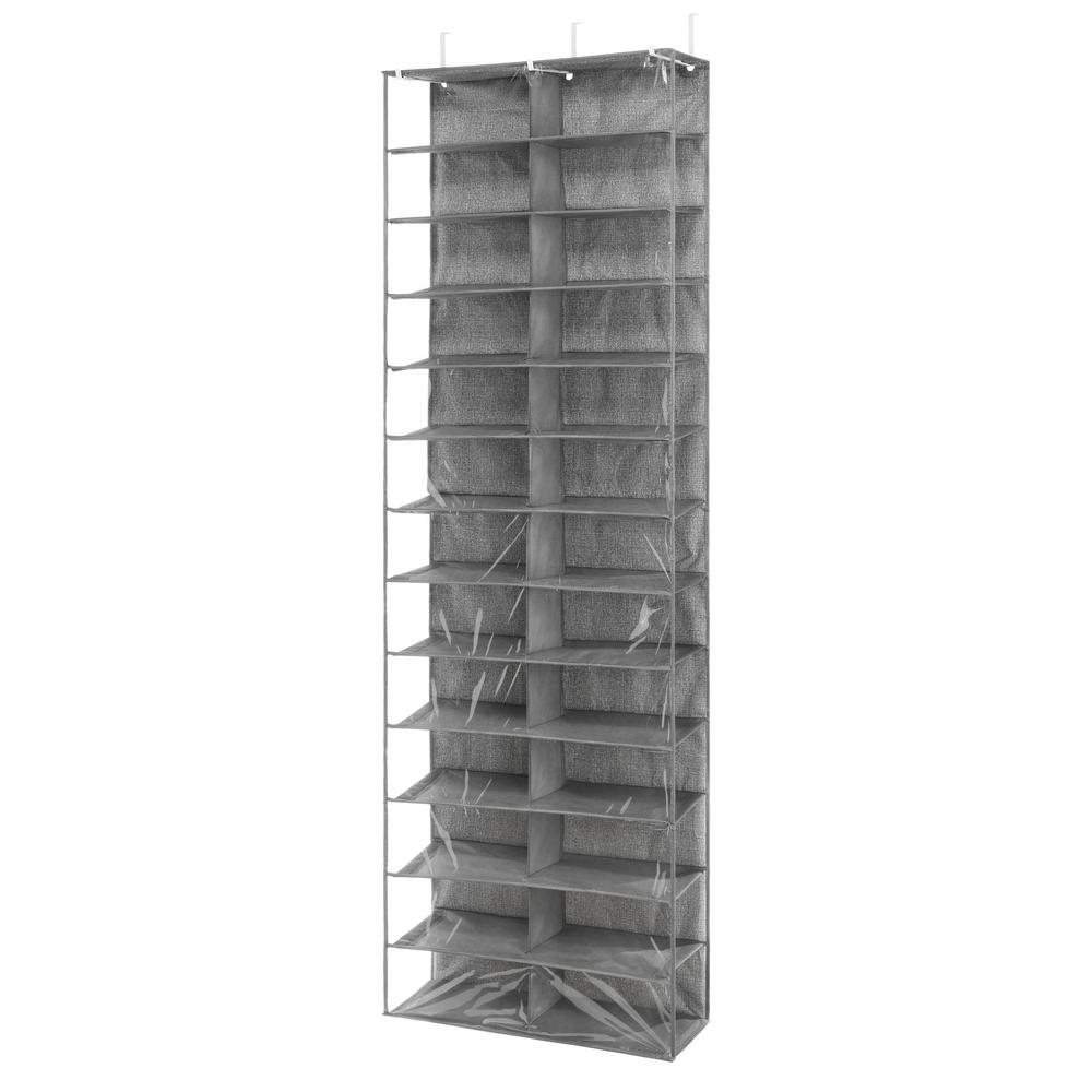 Whitmor Over The Door 26 Pair Shoe Storage Rack In Black