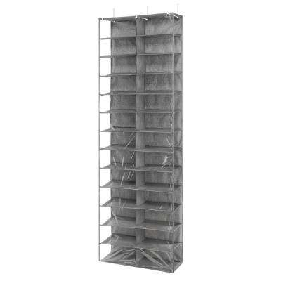 Over-The-Door 26-Pair Shoe Storage Rack in Black