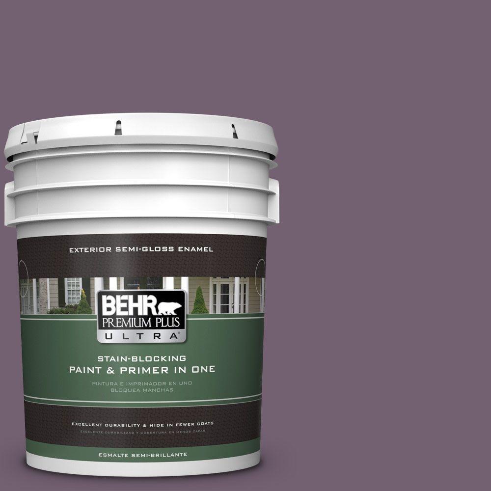 BEHR Premium Plus Ultra 5-gal. #680F-6 Shy Violet Semi-Gloss Enamel Exterior Paint