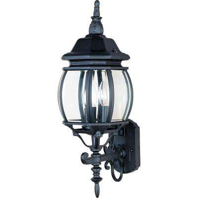 Crown Hill 3-Light Black Outdoor Wall Mount