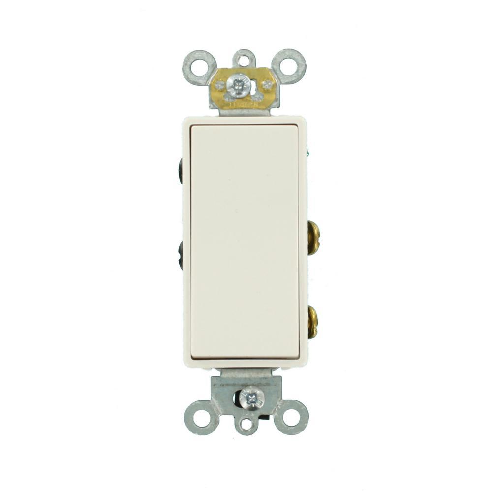20 Amp Decora Plus Commercial Grade Double Pole Rocker Switch, White