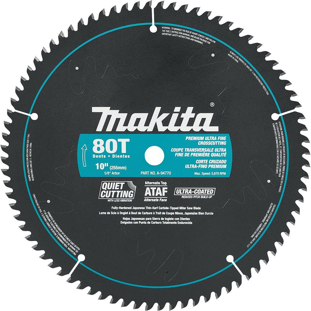 Makita circular saw blades saw blades the home depot 10 in x 58 in ultra coated 80 teeth miter keyboard keysfo Choice Image