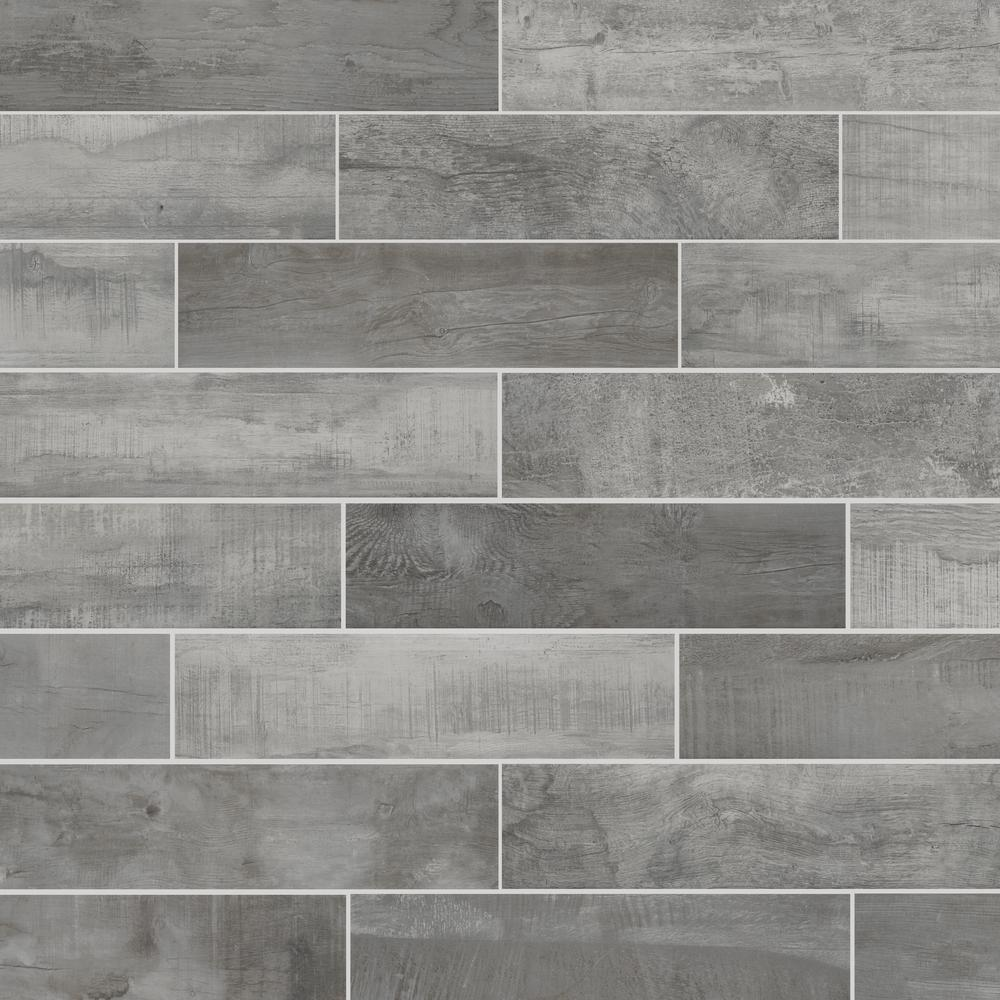 Florida Tile Home Collection Wind River Grey 6 In X 24 In