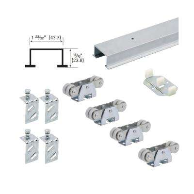 72 in. TopLine 72-138 Double Door Hardware and Track