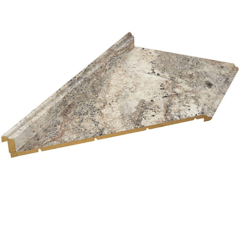 Good Left Mitered Laminate Countertop In Classic Crystal Granite