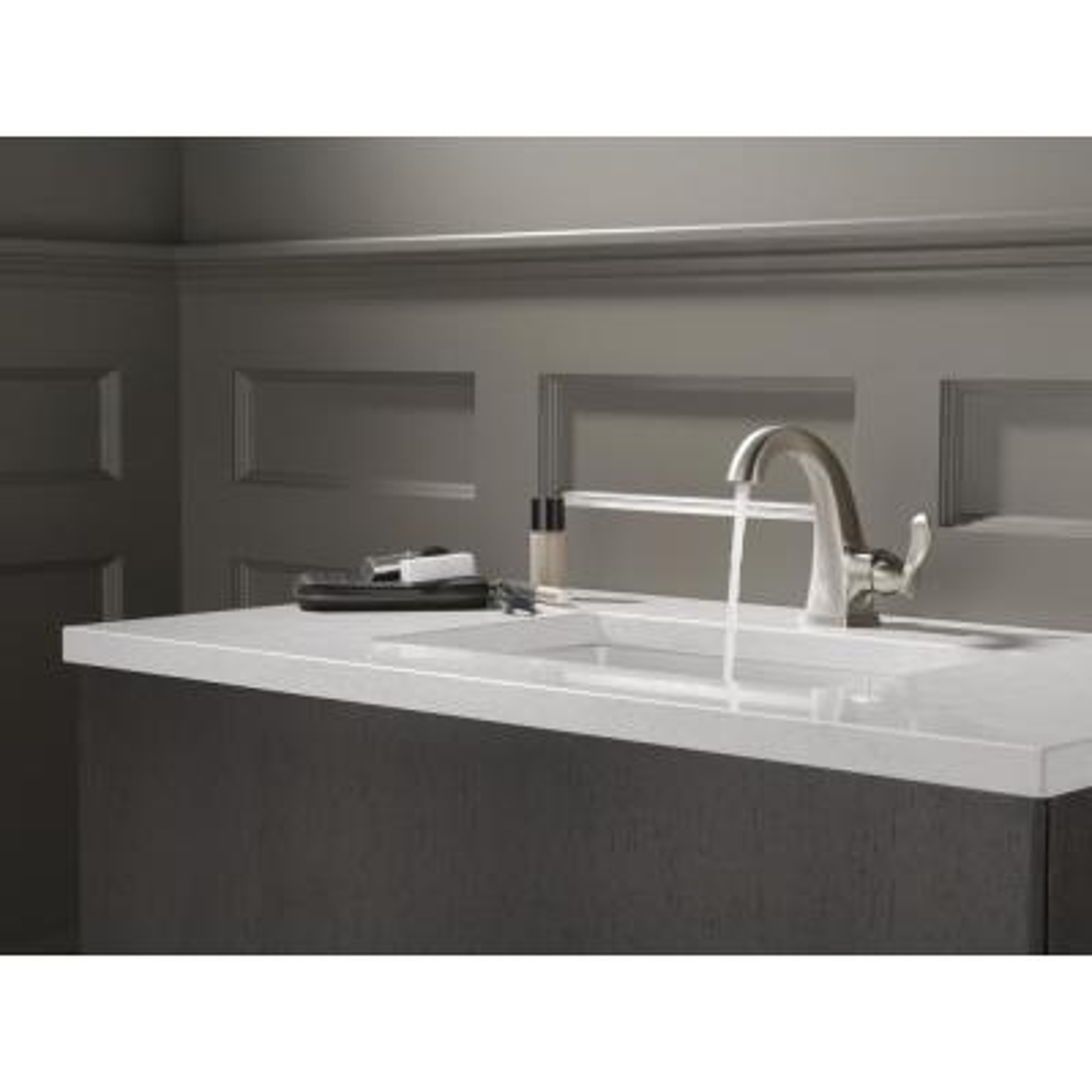 Everly 4 in. Centerset Single-Handle Bathroom Faucet in SpotShield Brushed Nickel