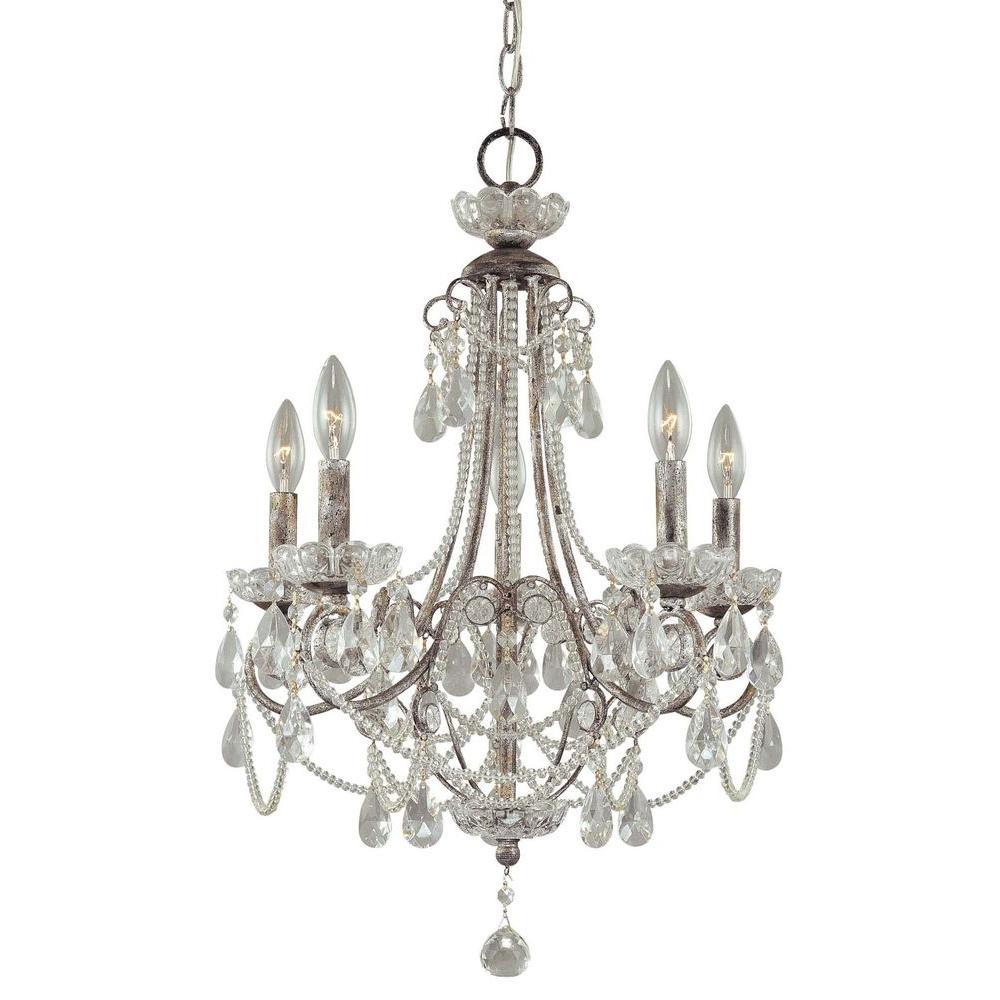 Minka lavery 5 light aged kinston bronze mini chandelier 3135 298 5 light distressed silver mini chandelier arubaitofo Choice Image