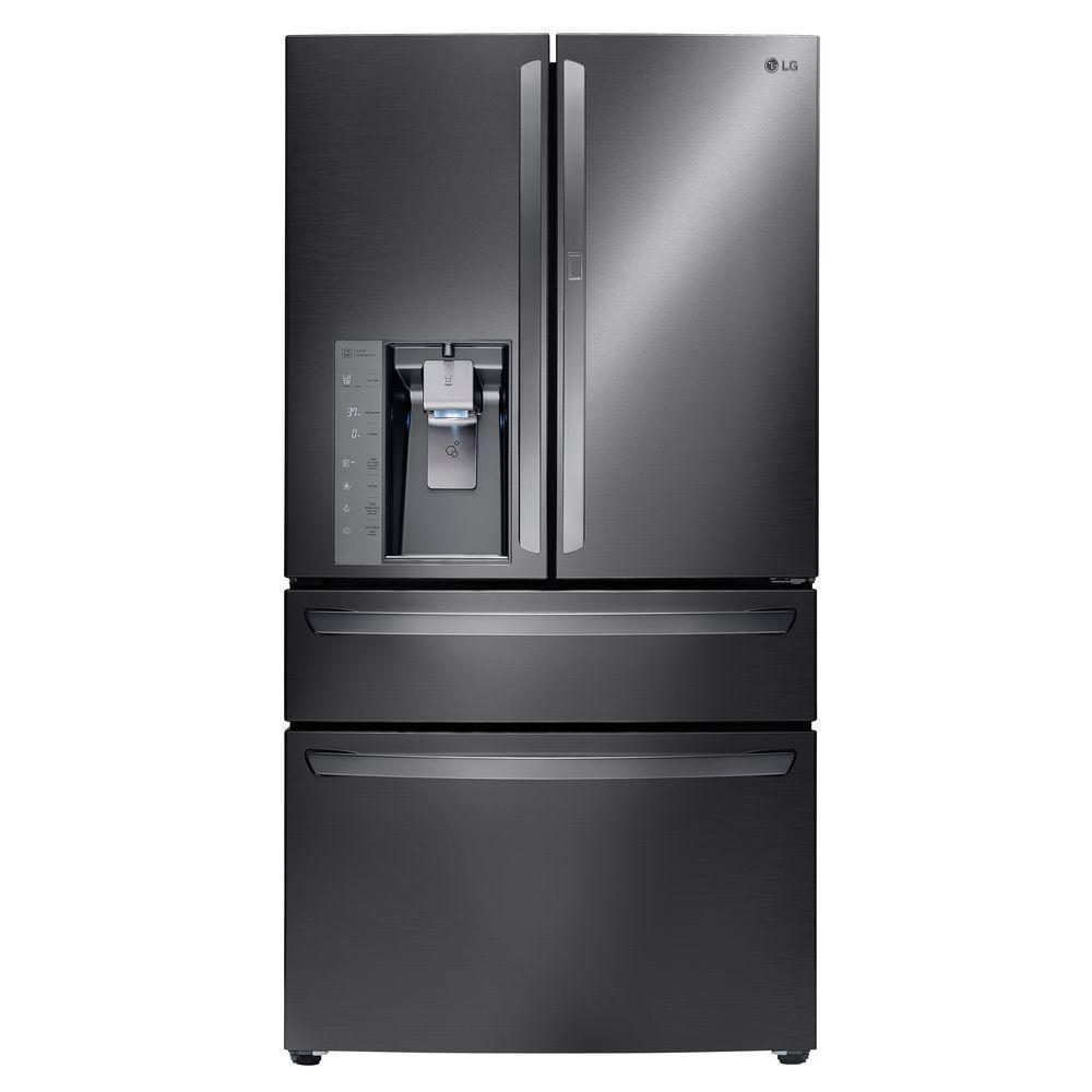 29.7 cu. ft. French Door Refrigerator with Door-in-Door in Black Stainless Steel