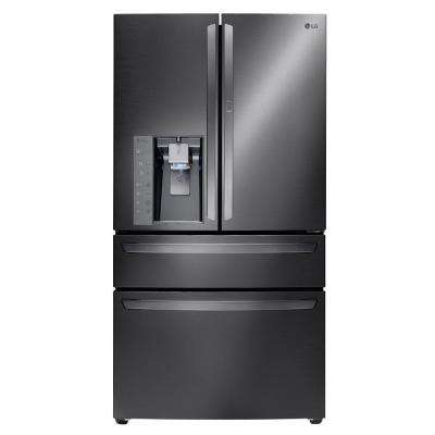29.7 cu. ft. French Door Refrigerator with Door-in-Door in Black Stainless Steel