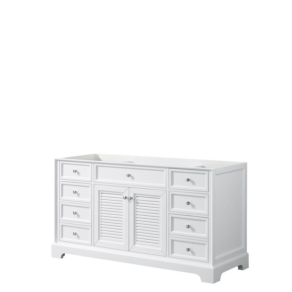 Tamara 60.5 in. Single Bathroom Vanity Cabinet Only in White